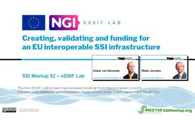 eSSIF-Lab online webinar hosted by SSI Meetup
